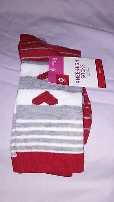 e1a83441c9d 1 PAIR KNEE High Valentines Day Women s Socks Sz 4-10 Red