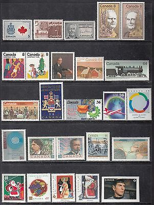 Vc702 Canada 25 Diff. Issues From 1966-2017 Mint Og Nh (1 Peelable 2017 Spock)