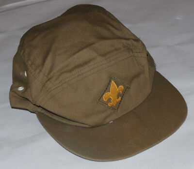 VINTAGE 1970s BOY SCOUT HAT/CAP! EMBROIDERED LOGO! MADE IN USA! OFFICIAL! SMALL
