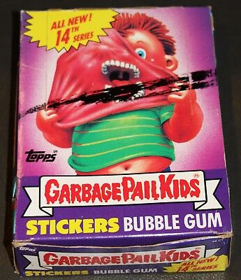 1988 Garbage Pail Kids 14Th Series Box 48 Pks Excellent Condition! Rare Gpk