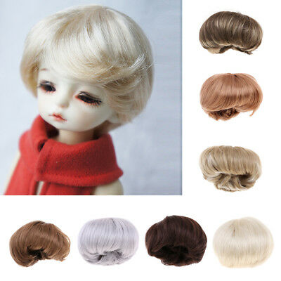 Short Straight Doll Imitation Mohair Wigs Hair for 1/6 BJD/ Uncle Doll DIY
