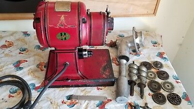 Vintage Hobart Meat Grinder Chopper Antique Model 612 Butcher Shop Beautiful !!