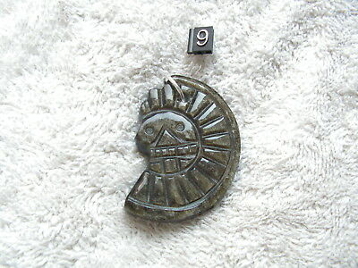 Death Of Disc Aztec Obsidian Stone New.