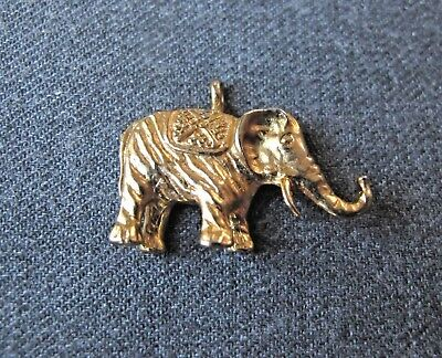 Vintage Gerry's Gold Plated Elephant Pendant