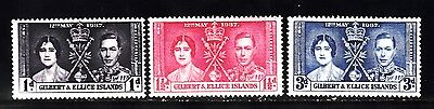 Vg549 Gilbert & Ellice Islands #37-39 Stamp - Mint Og Very Lightly Hinged