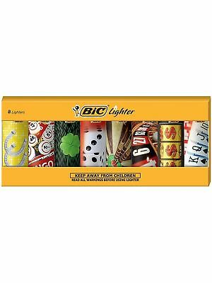 New dBIC Special Edition Casino Series Lighters, Set of 8 Lighters