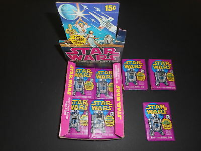 (1) 1977 Topps Star Wars 3rd Series 3 Yellow Border Unopened Sealed Wax Pack EX