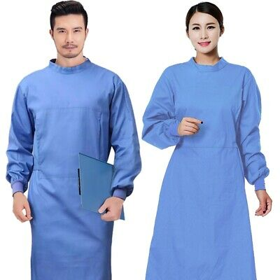 Surgical Gown Long Sleeve Isolation Gown for Doctor Surgeon Workwear S-2XL