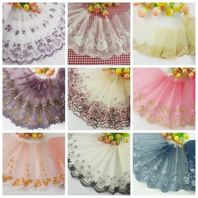 1 Yard Delicate  Embroidered Flower Tulle Lace trim  DIY/sewing/Wedding Lace 60
