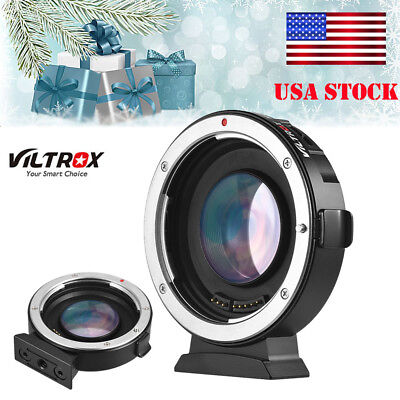 Viltrox EF-M2 Auto Focus Adapter 0.71xAperture For Canon EOS EF Lens To M4/3 MFT