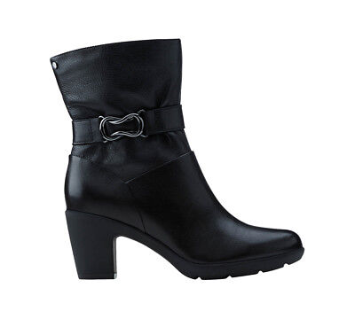 New Clarks Women's Lucette Holly Boot Black Leather 9