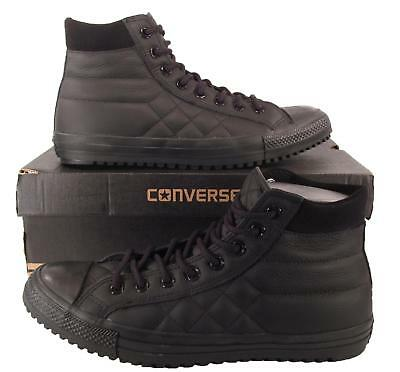 Converse Chuck Taylor All Star PC Boot Quilted Leather Mono Solid BLACK  153669C d28fa5b4b