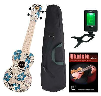 Sopran Ukulele Uke Kinder Hawaii Gitarre Abs Bag Hula-Holiday Set Tuner Schule