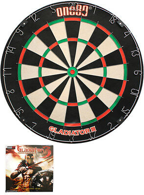 Dartboard one80 Gladiator 3 Bristle Board Dartscheibe für Steeldarts Dart Darts
