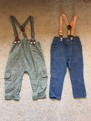 Next 9-12 Months Boys Trousers With Braces
