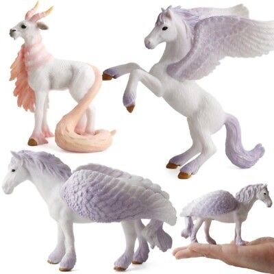 Vivid 3D Pegasus Unicorn Figure Simulation Model Toys Kids Ornaments Home Decor