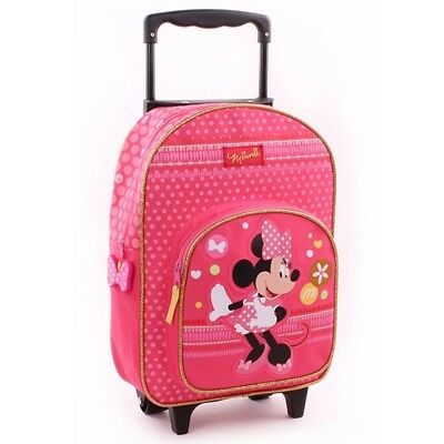 Trolley Rucksack | 37 x 26 x 13 cm | Minnie Maus | Minnie Mouse | Reisetasche