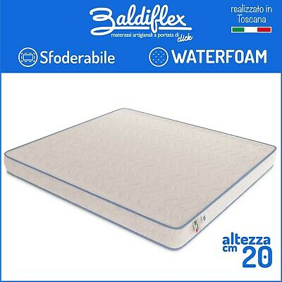 Materasso Waterfoam Poliuretano H 20 Cm Ortopedico Basic Sfoderabile Anallergico