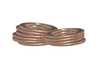 "Copper Crush Washers for M10/3/8"", 7/16"", M12 Banjos for AN3 Brake Hose Pack x10"