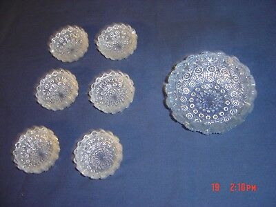 LOT OF Westmoreland Lacy Daisy Open Salt Cellar Dip Early American Pattern Glass