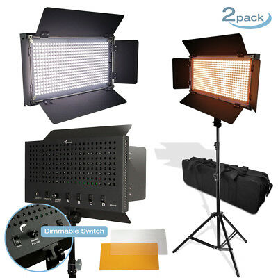 2 Sets504 Led Barn Door Photo Studio Light Panel 86 Light Stands