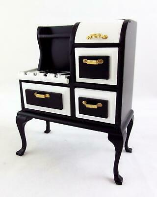 Melody Jane Dolls House 1:12 Wooden Kitchen Furniture 1920's Stove Cooker Oven