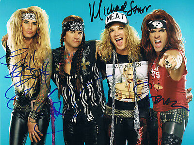 STEEL PANTHER GENUINE autograph signed 8