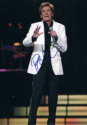 """Barry Manilow 1943- genuine autograph photo 8""""x12"""" signed In Person US singer"""
