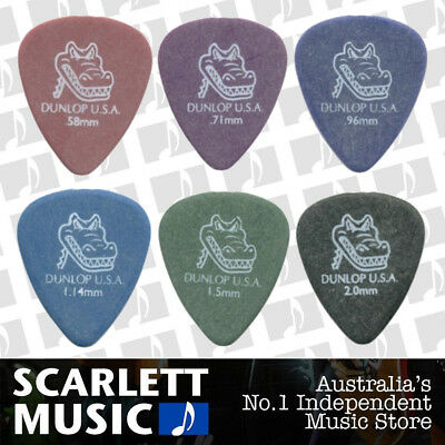 6 X Jim Dunlop Gator Grip 417R MIXED Guitar Picks Starter Set / Beginner
