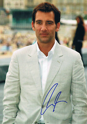 """Clive Owen 1964- autograph photo 8""""x12"""" signed IN PERSON English actor"""