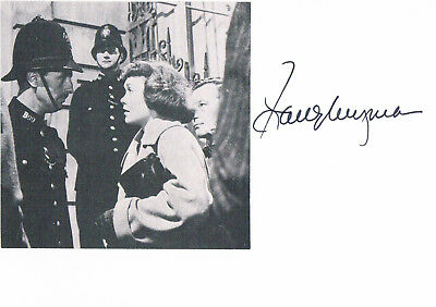 """Jane Wyman 1917-2007 genuine autograph card 4""""x6"""" signed w.attached picture"""