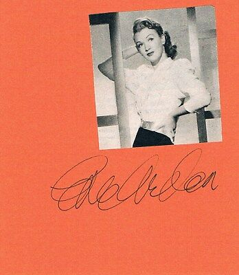 "Eve Arden 1908-90 autograph signed card 4""x4.5"" w. attached magazine picture"