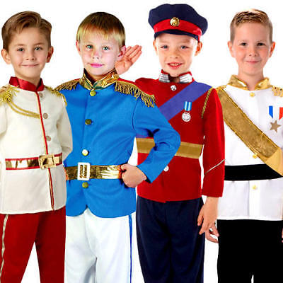 Royal Prince Boys Fancy Dress Book Day Week Fairy Tale Kids Childrens Costume