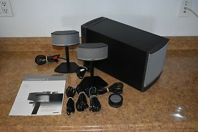 Bose Companion 5 Multimedia Speaker System Preowned Free Shipping