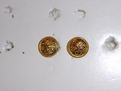 b0646p WW2 Japan Japanese Army EM & NCO buttons Field Cap chin strap pair R17B