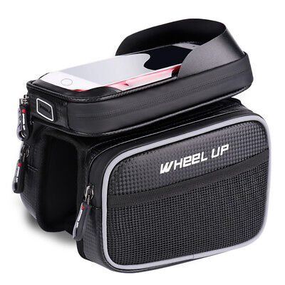 Cycling Waterproof Bike Bags 6.2 Inch Cellphone Bags Bicycle Bag Double Pouch