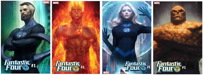 (2018) FANTASTIC FOUR #1 ARTGERM VARIANT COVER Set of 4! FREE SHIPPING!