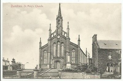 POSTCARDS-SCOTLAND-DUMFRIES-PTD. St Mary's Church.