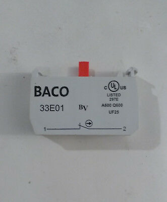 BACO MICRO SWITCH RED 33E01 NORMALLY CLOSED Normally Closed 690V 10A
