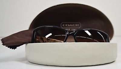 592f10b61a67 NEW COACH DARK Tortoise/Military Brown Round Plastic Sunglasses With ...