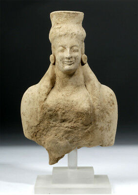 ARTEMIS GALLERY Archaic Greek Pottery Votive Head / Torso of Goddess