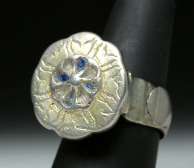 ARTEMIS GALLERY Beautiful Byzantine Gilded Silver Ring - 14.7 g