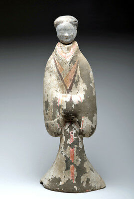 "ARTEMIS GALLERY Chinese Han Dynasty Female Tomb Attendant - 29""H"