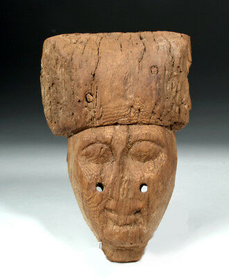 ARTEMIS GALLERY Egyptian 25th Dynasty Wood Sarcophagus Mask