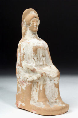 ARTEMIS GALLERY Elegant Western Greek Earthenware Seated Goddess