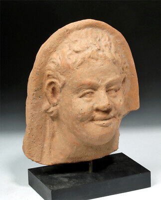 ARTEMIS GALLERY Fine Greek Terracotta Protome of a Youth