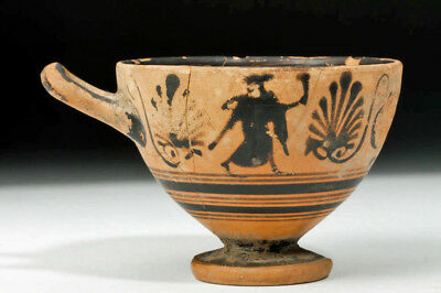 ARTEMIS GALLERY Greek Attic Black-Figure Pottery Skyphos