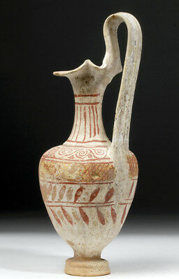 ARTEMIS GALLERY Greek Canosan White Ground Pottery Oinochoe