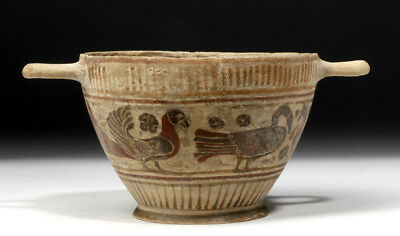 ARTEMIS GALLERY Greek Corinthian Pottery Kylix w/ Ibex and Birds