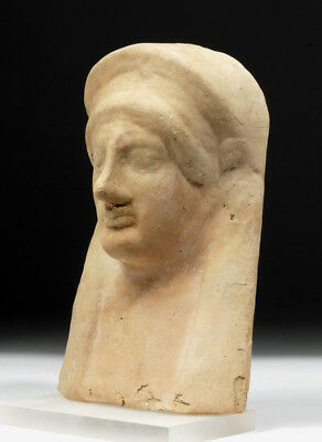 ARTEMIS GALLERY Greek Earthenware Protome of Goddess